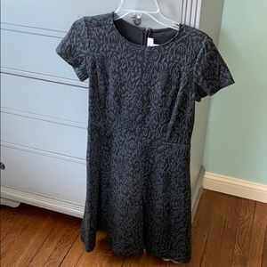 Jacquard dark gray Loft dress
